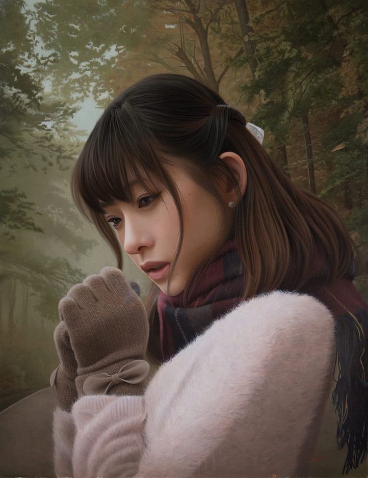 Photorealistic Painting Portraits by Yasutomo Oka