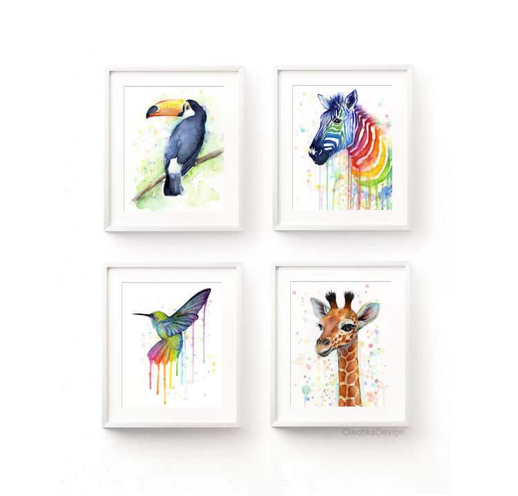 Rainbow Gifts Rainbow Products Colorful Gifts Rainbow Animals