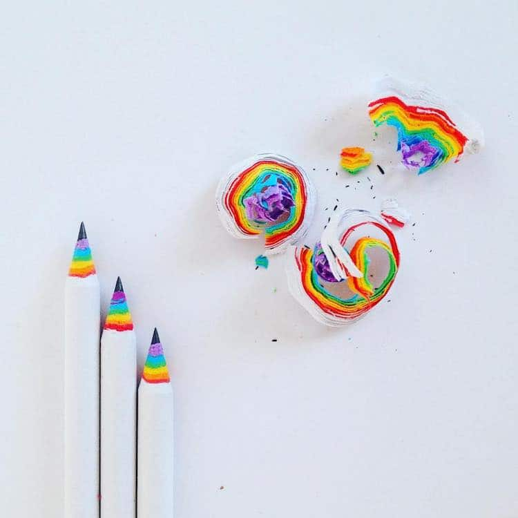 Rainbow Gifts Rainbow Products Colorful Gifts Rainbow Pencils