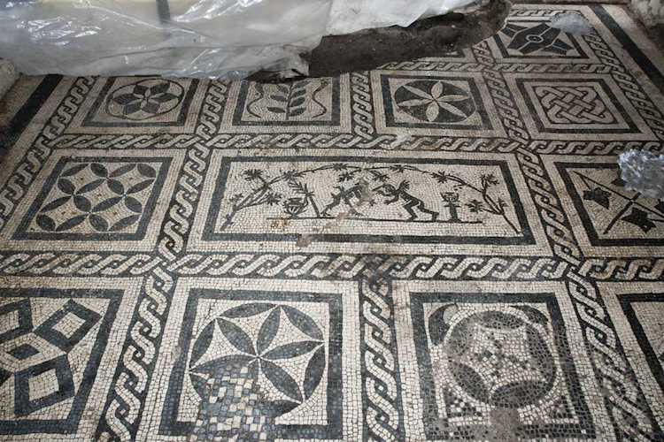 Ancient Roman Floor Mosaic Metro C Archaeology