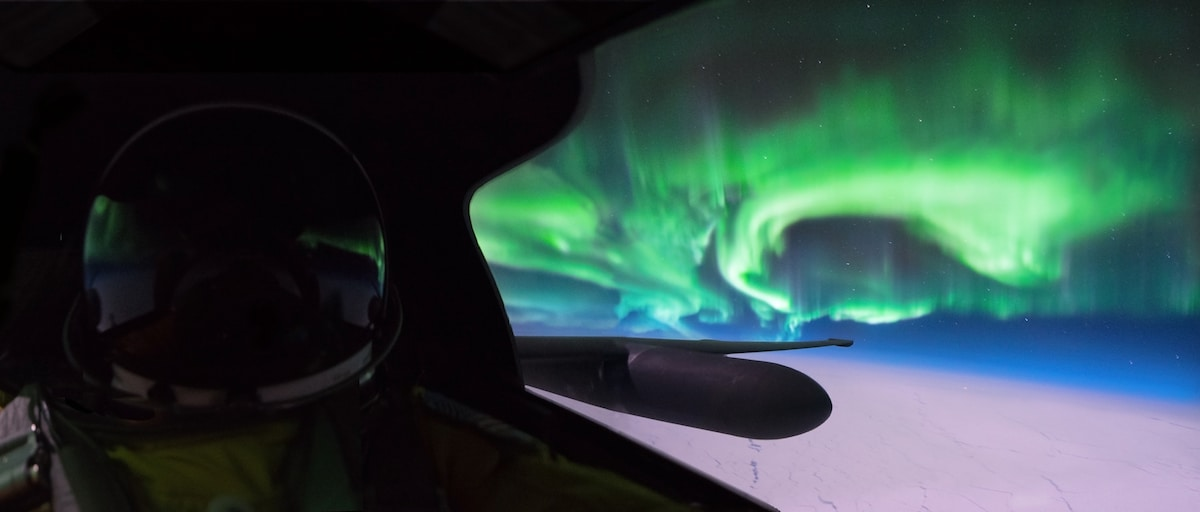 Northern Lights from U2 Airplane