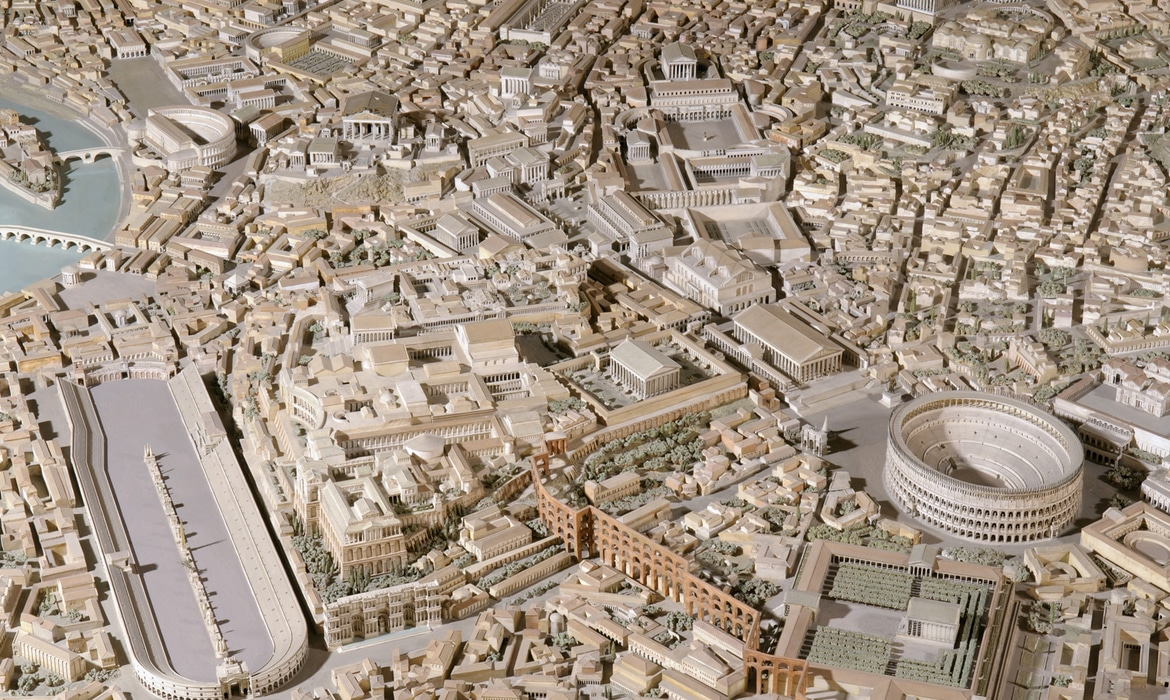 Incredible Scale Model Of Ancient Rome Located In Eur By