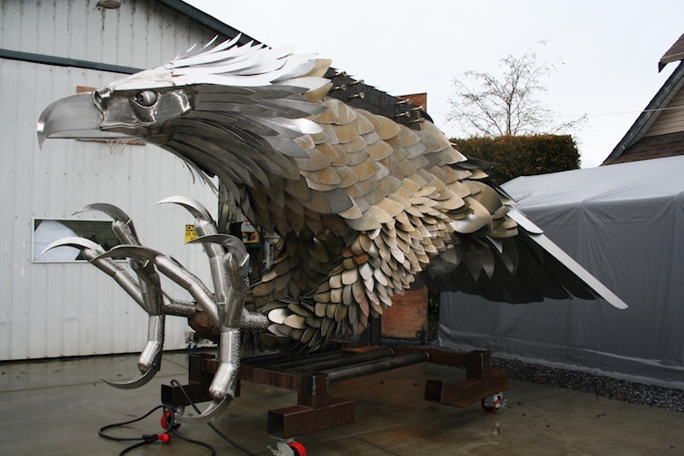 Stainless Steel Fantasy Art Sculptures by Kevin Stone