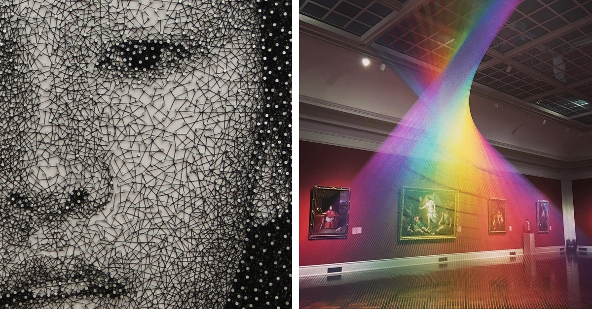 8 Contemporary Artists That Take String Art To The Next Level