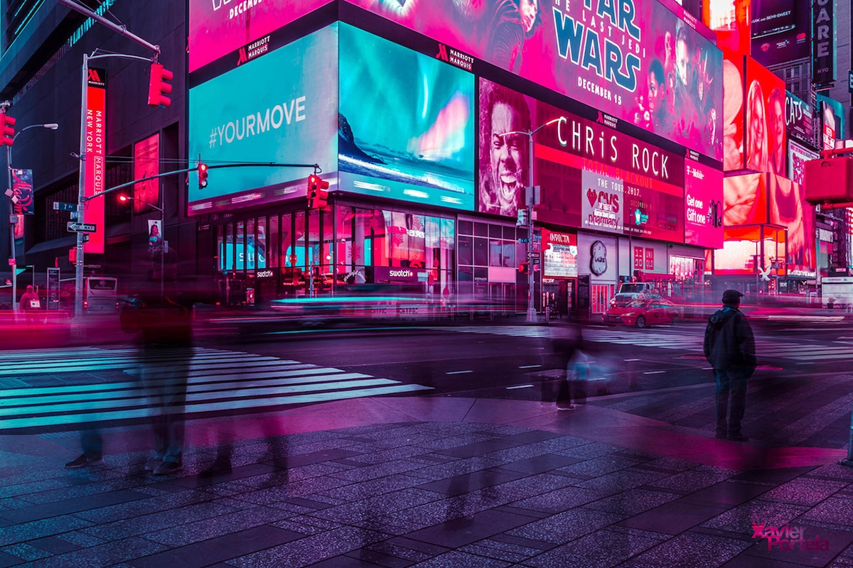 Times Square Neon Lights Xavier Portela