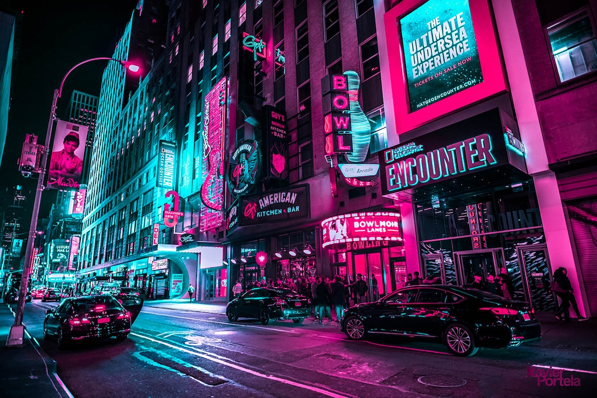 New York City Neon Lights Xavier Portela