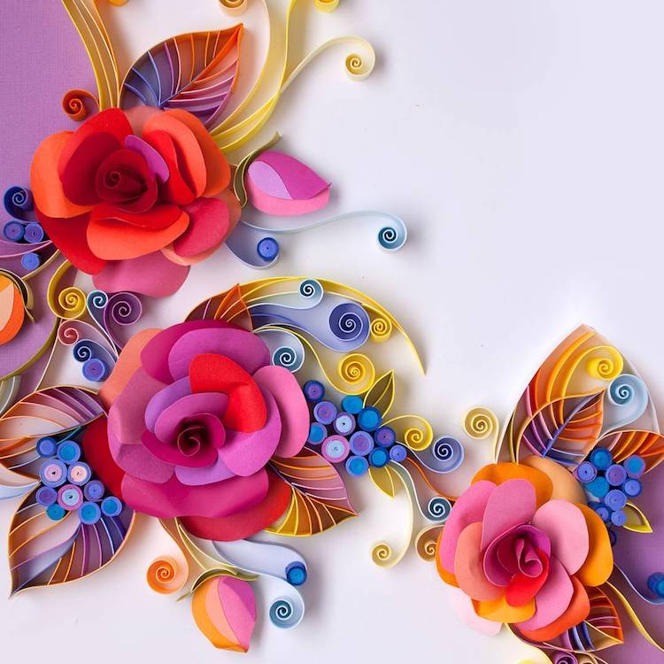 contemporary paper quilling art by yulia brodskaya rh mymodernmet com  images of quilling paper art