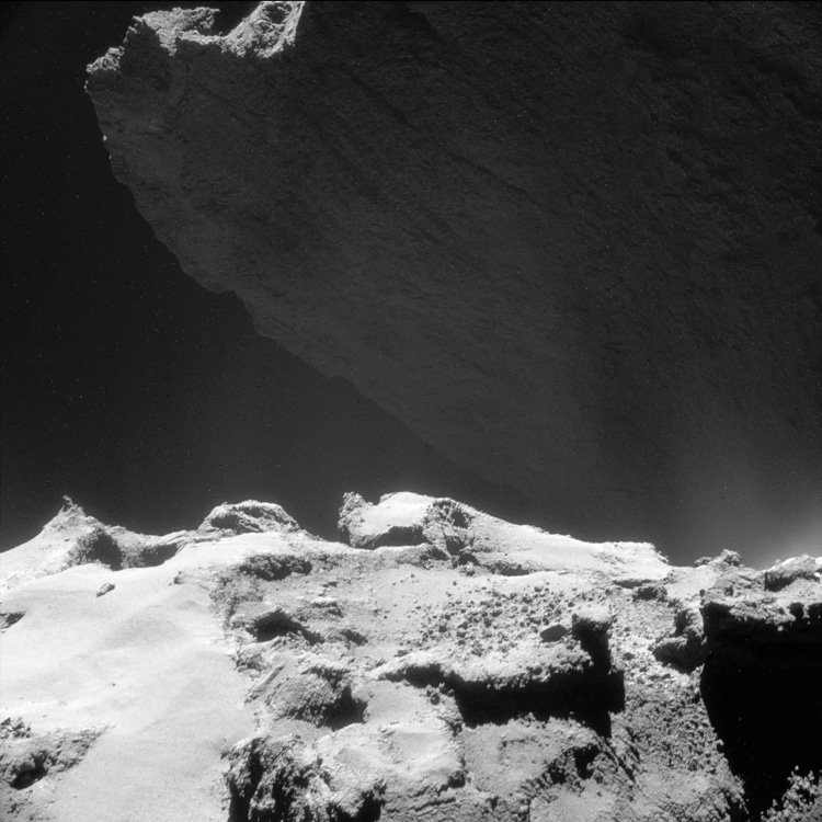 67P/Churyumov–Gerasimenko Comet - Cliffs of Hathor