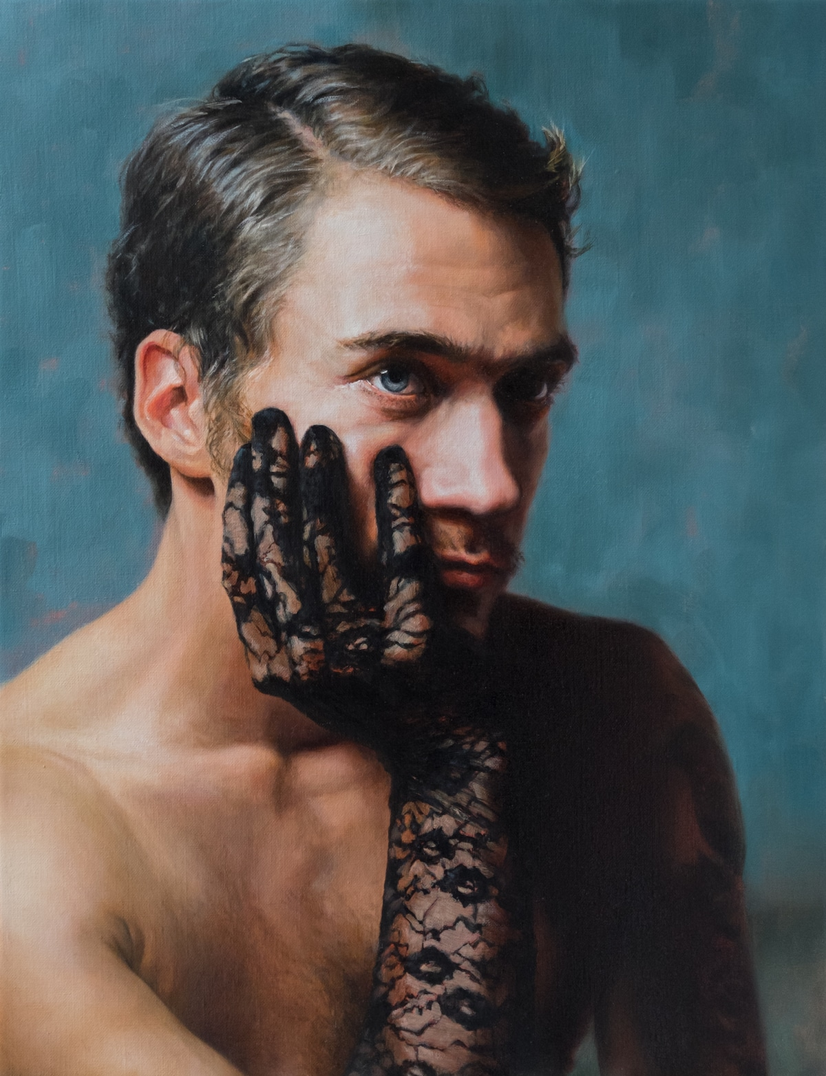 Male Figurative Painting by Alessandro Tomassetti