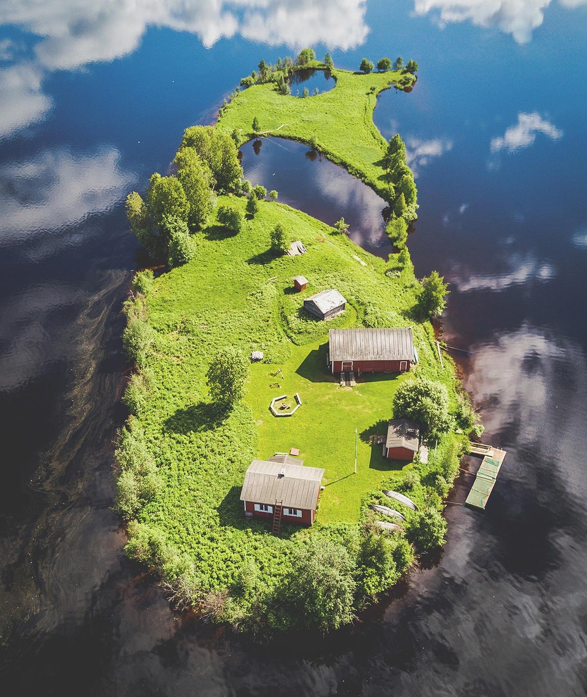 Jani Ylinampa Isla Kotisaari en Finlandia Laponia Finlandesa