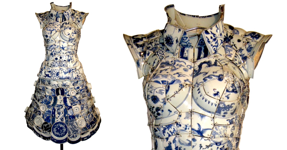 "Artist Uses Hundreds of Shards of Chinese Porcelain to Create ""Wearable"" Art"
