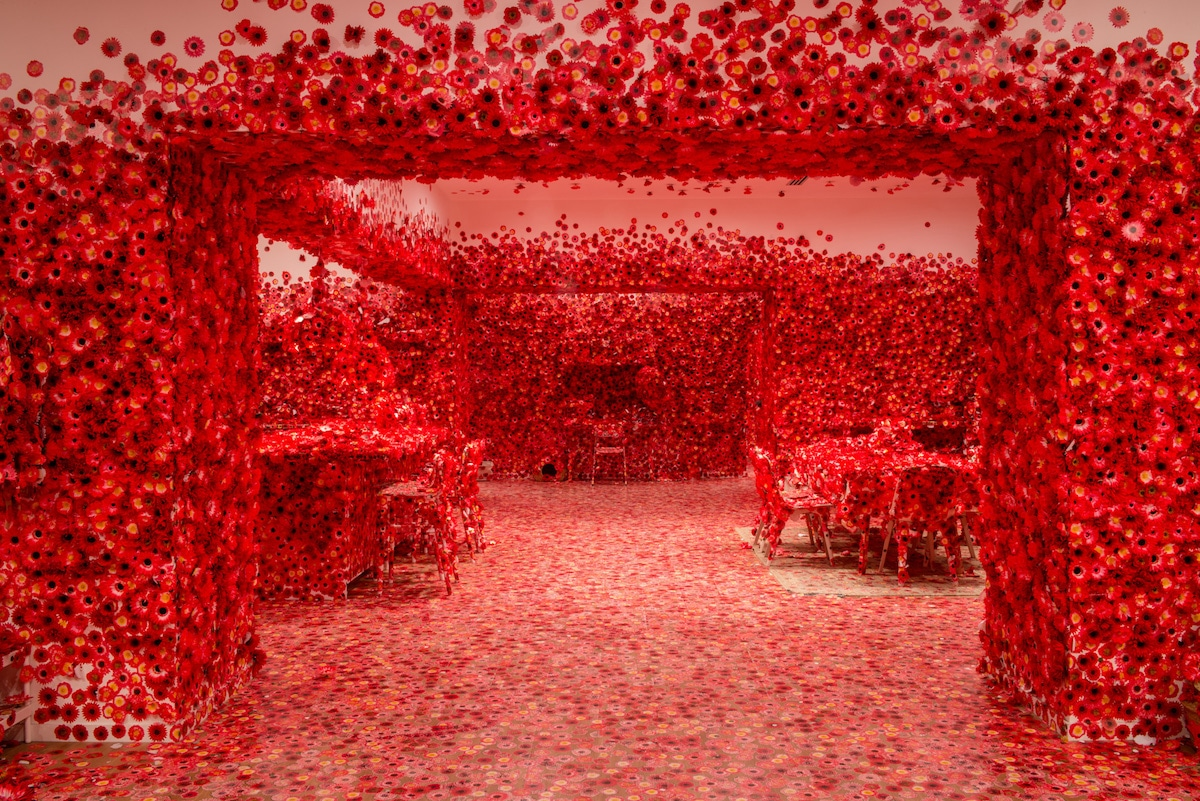 Flower Obsession Obliteration Room by Yayoi Kusama