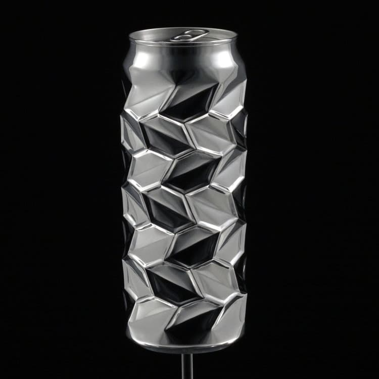 Aluminium Can Recycled Metal Art by Noah Deledda