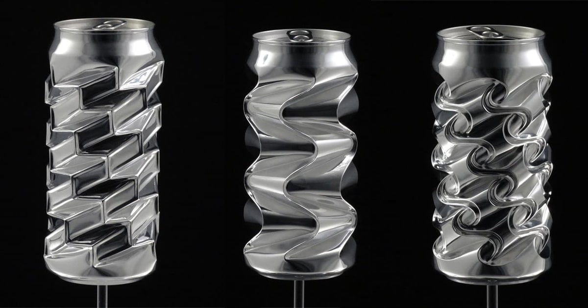 recycled metal artist turns aluminum cans into sculptures by hand