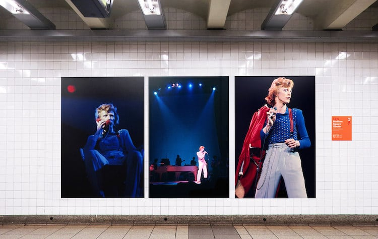 David Bowie is Exhibition Subway Takeover