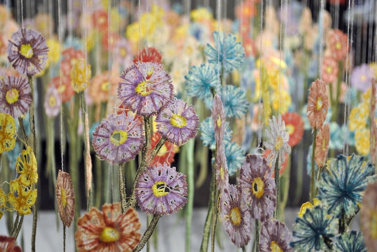 Embroidery Art Installations by Amanda McCavour