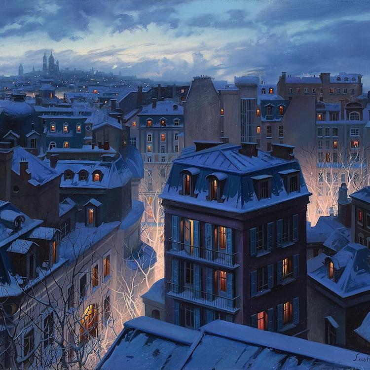 Light of Paris Paintings Evgeny Lushpin