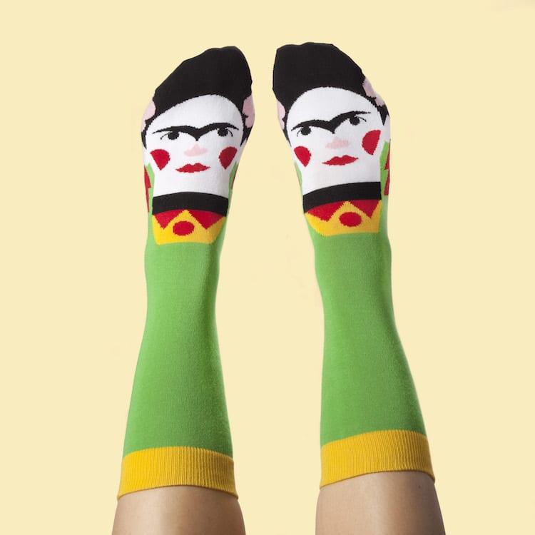 Famous Artist Socks Frida Kahlo Socks