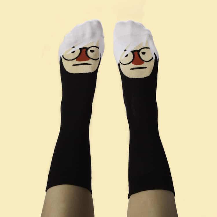 Famous Artist Socks Andy Warhol Socks