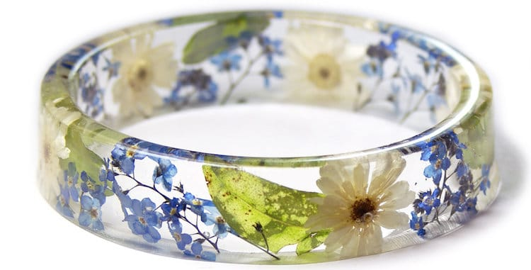 Resin Flower Jewelry