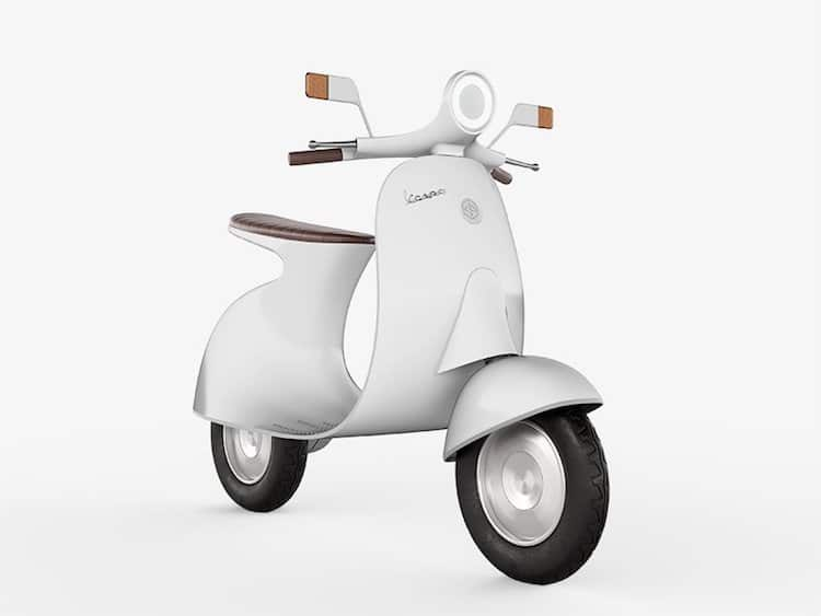 Electric Vespa Concept Is A Nod To The Past While Looking