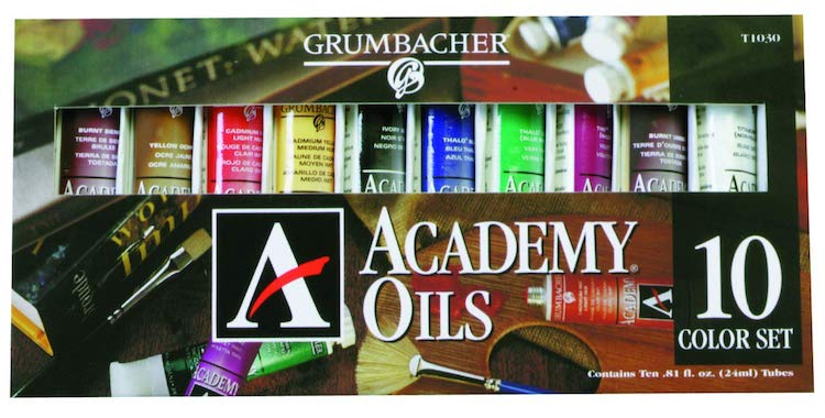 Pinturas al óleo de grado estudiantil de Grumbacher