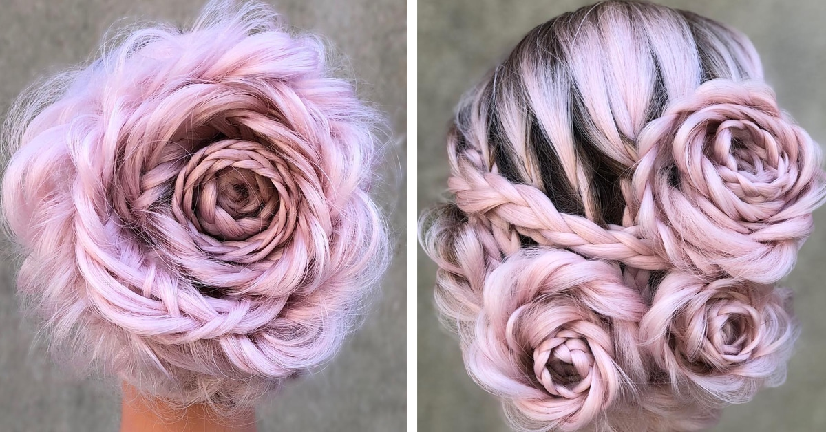Intricate Braided Updo Transform Hair Into A Blooming Rose