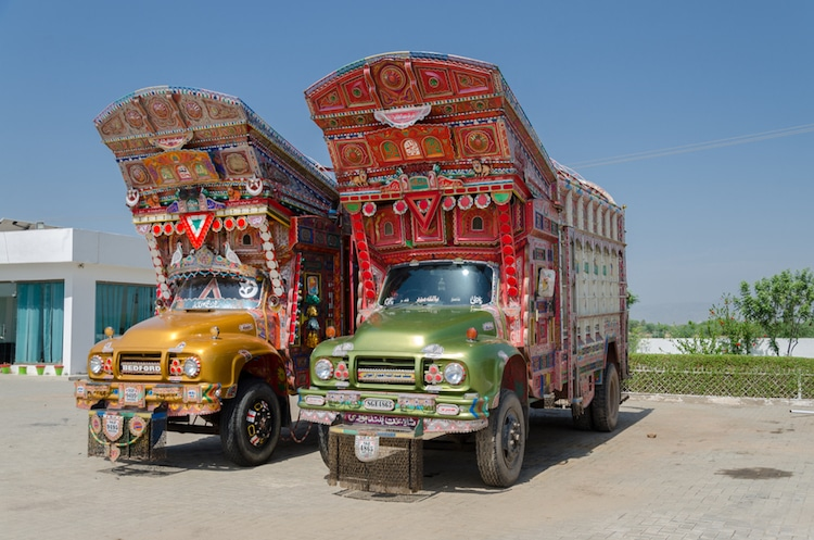 South Asia Painted Trucks
