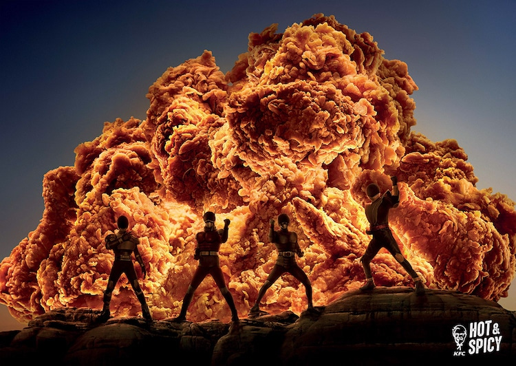 KFC Hong Kong Hot and Spicy Chicken Ads Ogilvy and Mather Hong Kong