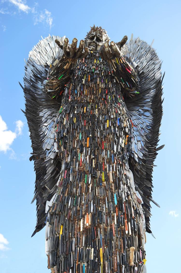 Knife Angel Monument Against Knife Violence