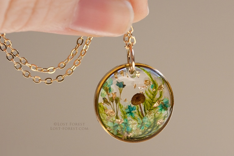Lost Forest Plant Jewelry Resin Jewelry Flower Jewelry