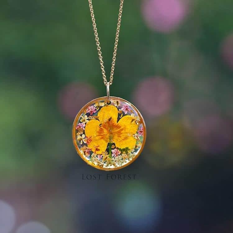 Lost Forest Plant Jewelry Resin Jewelry Flower Jewelry