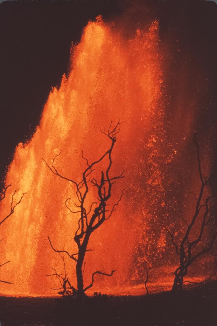 Mauna Ulu Volcanic Eruptions