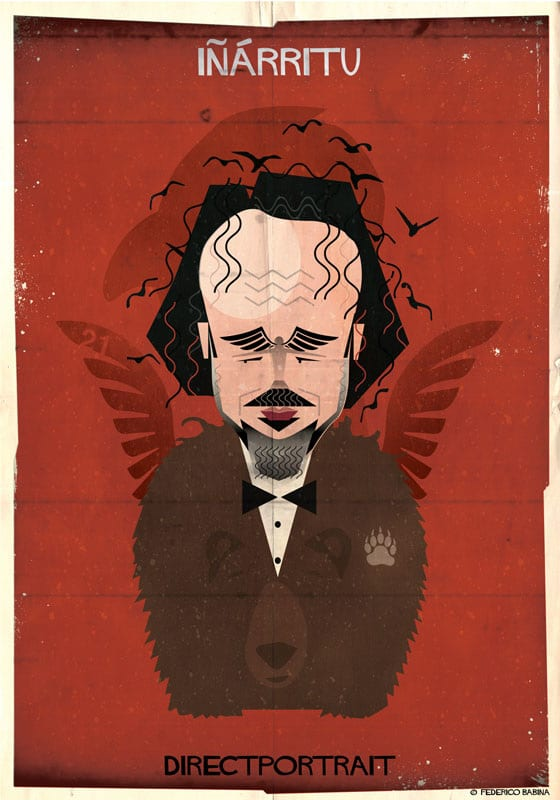 Famous Movie Directors Digital Illustration by Federico Babina