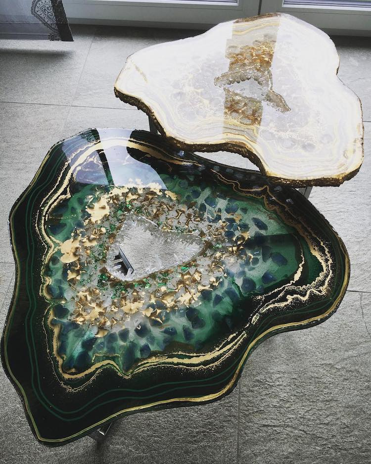 Geode Table Geode Coffee Table Resin Table