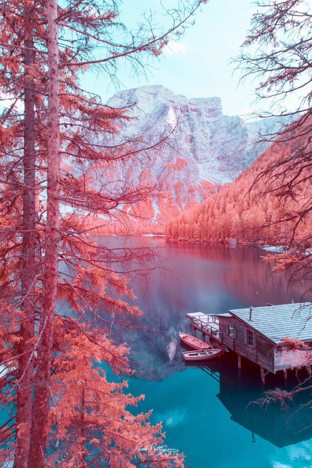 Infrared Photos of the Dolomites by Paolo Pettigiani