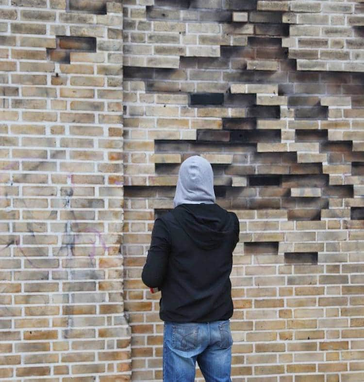 Pejac Street Art 3D Brick Illusion