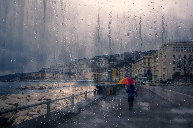 Fine Art Photography Raindrop Blues by Alessio Trerotoli