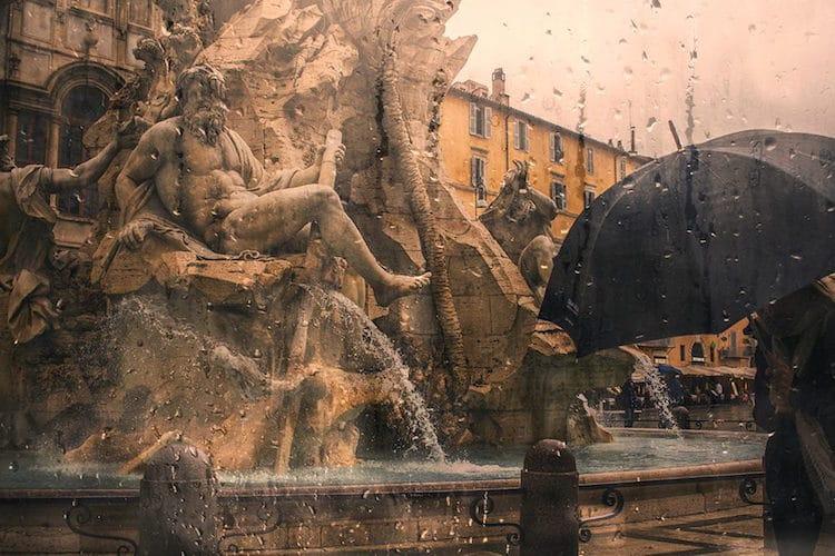 Fine Art Photography Raindrop Blues by Alessio Trerotoli