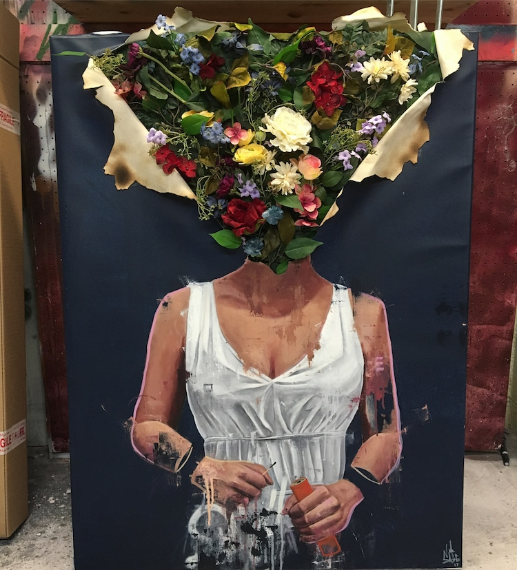 Surreal Portraits Replace Heads With Bountiful Bouquets Of
