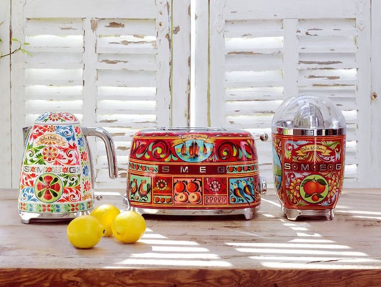 Smeg Appliances Collaboration With Dolce U0026 Gabbana