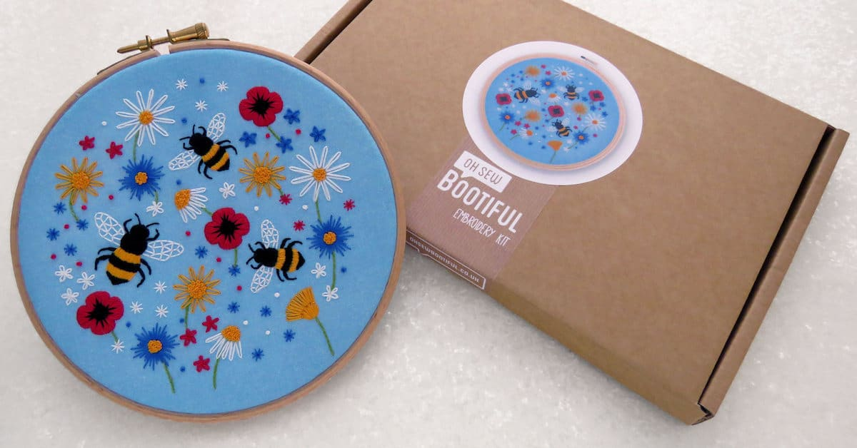 Stamped Embroidery Kits Are A Perfect Way To Celebrate Summer