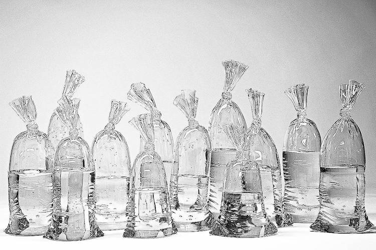 Water Bag Glass Sculptures by Dylan Martinez