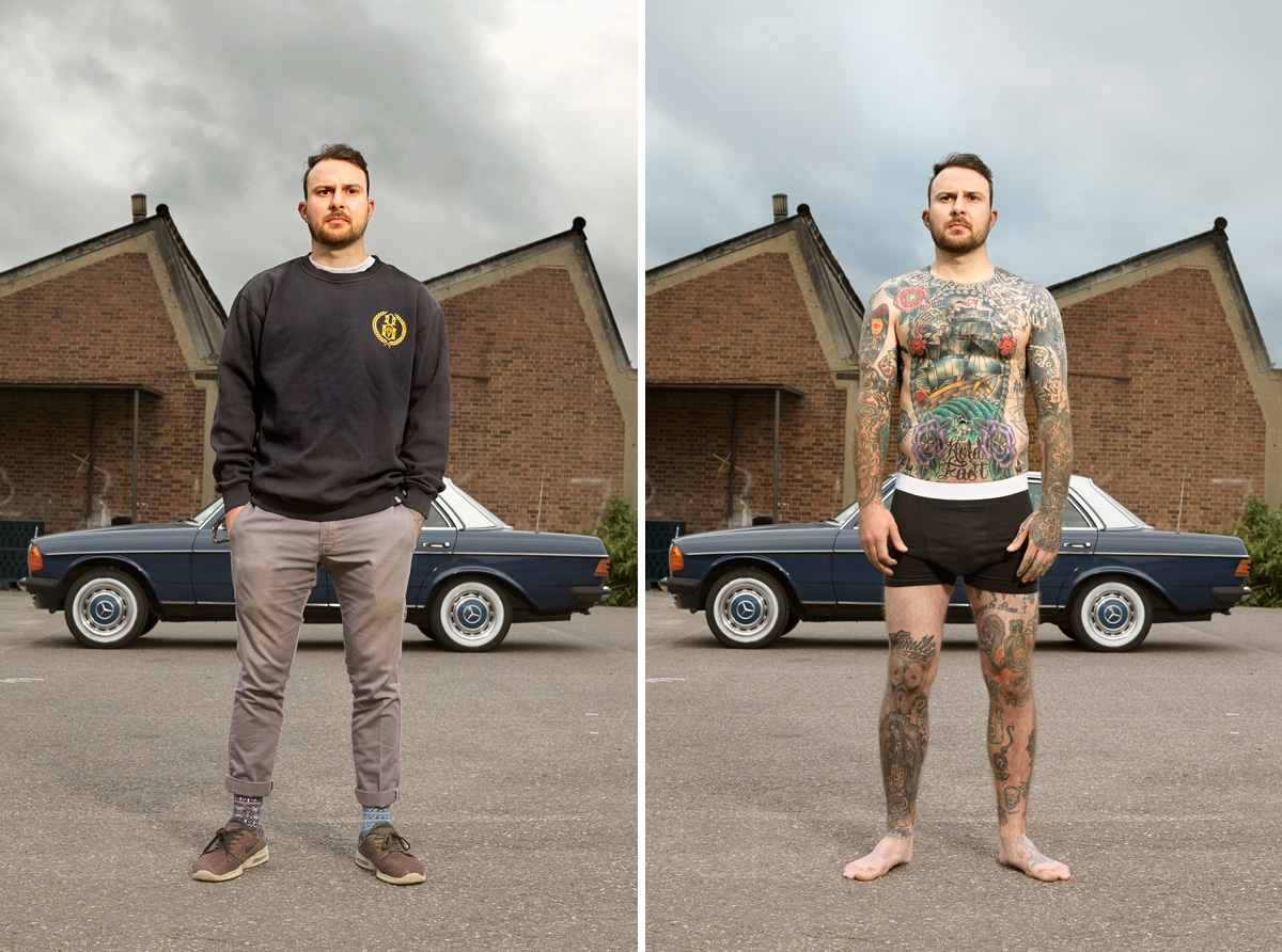 Photo of Man with Tattoos by Alan Powdrill
