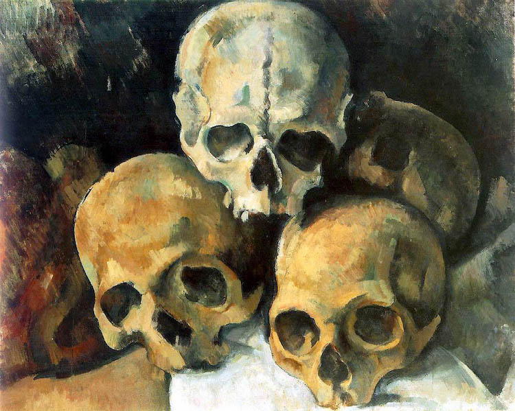 Cezanne Painting of a Pyramid of Skulls