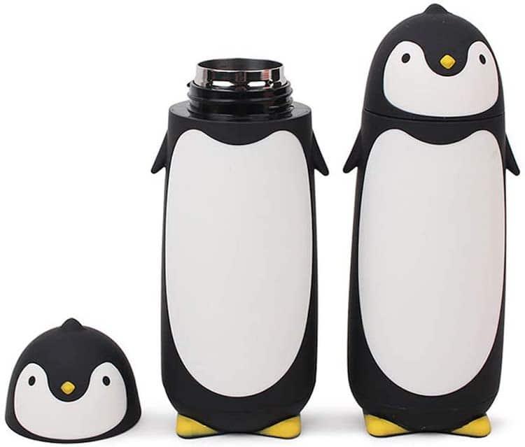 Termo de viaje de pingüino