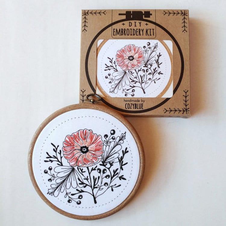 DIY Embroidery Kits for Beginners Cozyblue Handmade