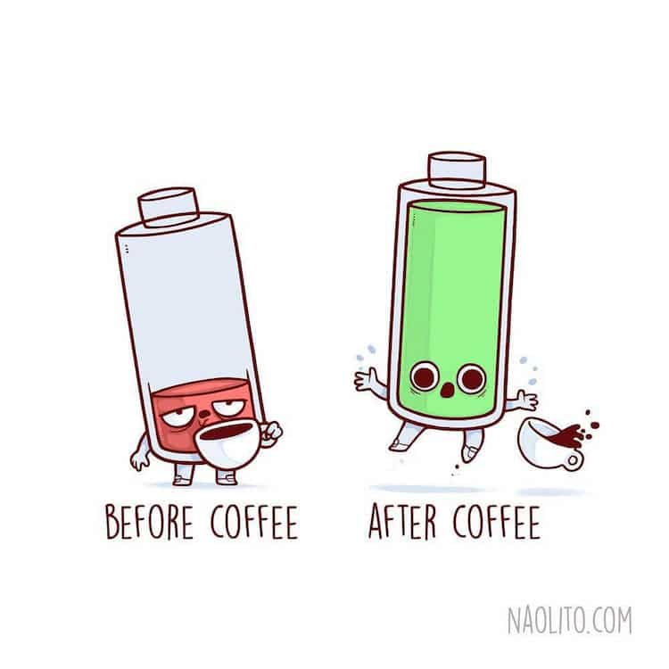 Cute Cartoon Drawings Illustrate Relatable Before And After