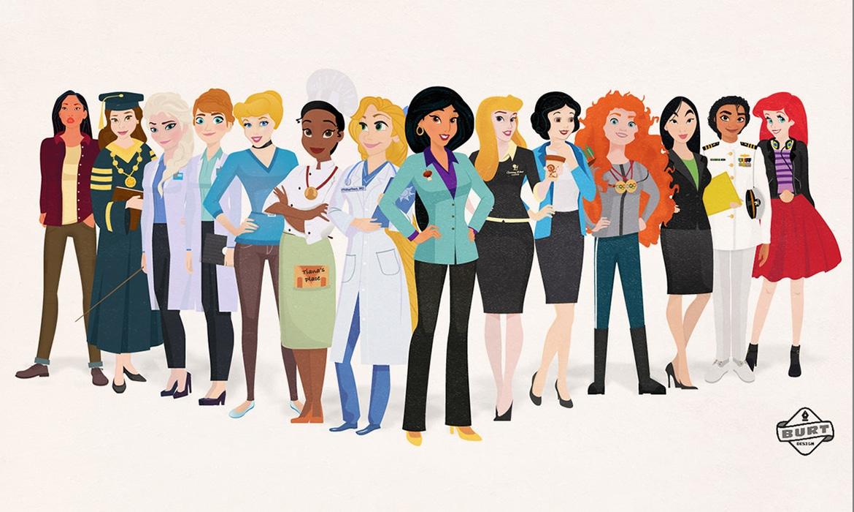 The most famous Disney princesses