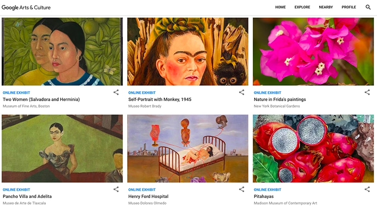 Faces of Frida Kahlo Google Arts and Culture